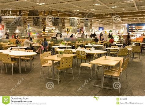 customers inside warehouse part of ikea home store stock food court editorial image image 31200870
