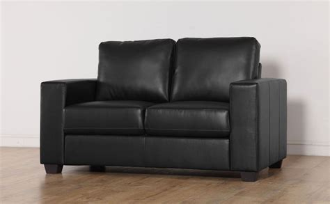 mission black leather 2 seater sofa only 163 299 99