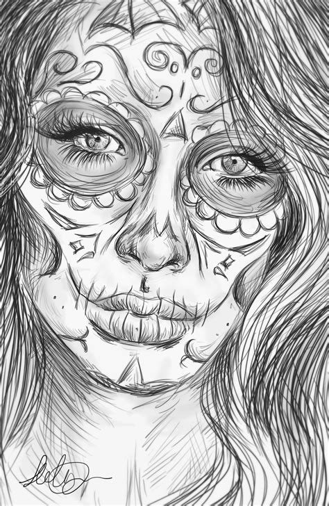 day of the dead face coloring pages angel coloring pages realistic realistic sugar skull by