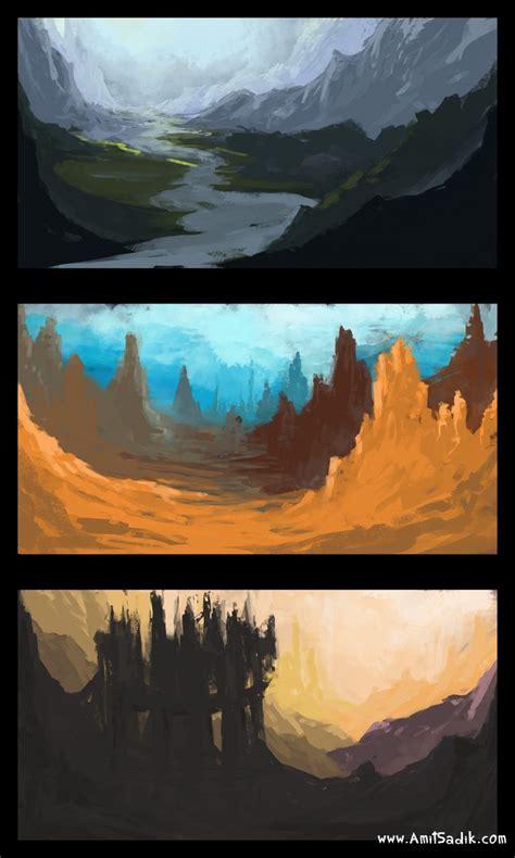 speed painting speed painting tutorial 3 sketches amit sadik