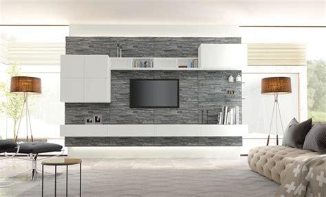 mobili soggiorno parete finta pietra soggiorno idee per il design della casa