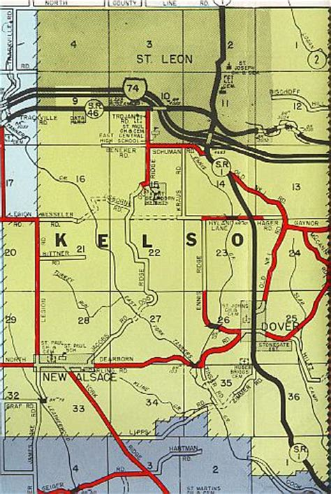 Dearborn County Records Kelso Township