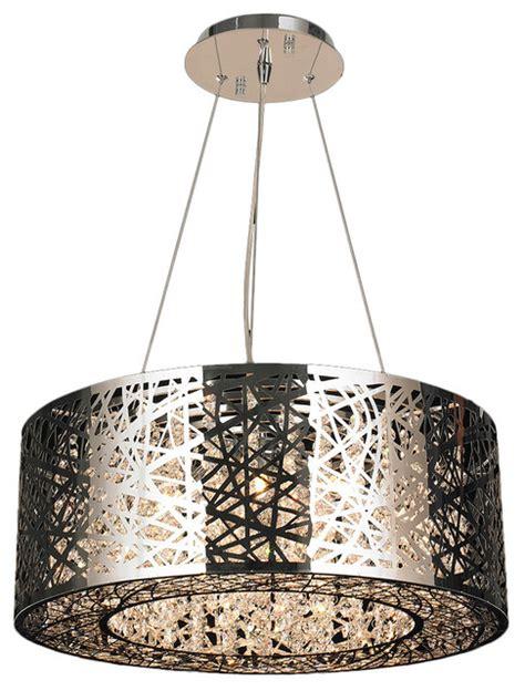 Oval Vases Aramis Led Light Chrome Finish Clear Crystal Round