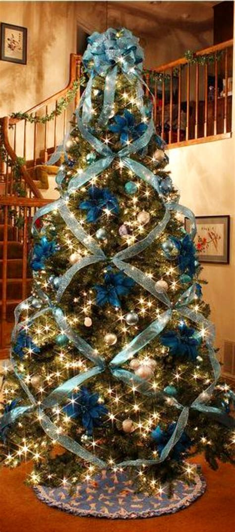 criss cross ribbon with bows on christmas tree trees tree decorating ideas tree ideas criss cross and