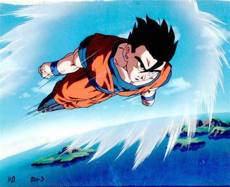 imagenes de goku volando si tu vas yo voy la partida de gohan dragon ball fanon