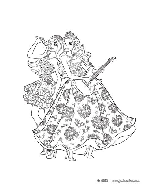 barbie and the diamond castle colouring pages