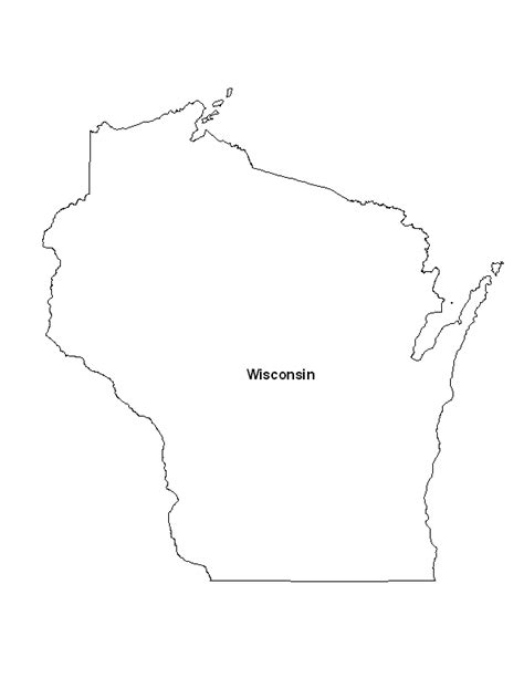 wisconsin state map printable map of the state of wisconsin eprintablecalendars