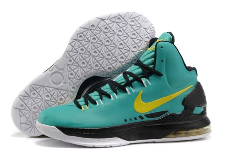kevin durant boys basketball shoes nike kd v kevin durant basketball shoes green black white