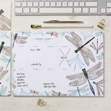dragonfly planner dragonfly weekly planner by cherith harrison