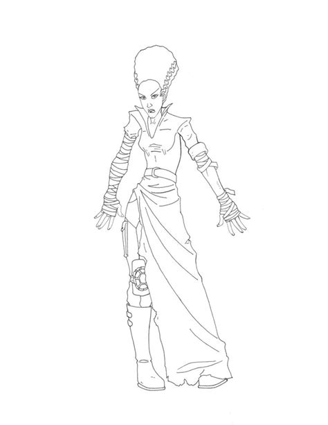 bride of frankenstein pages coloring pages