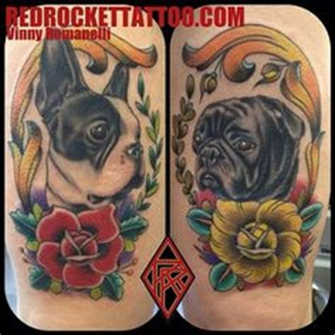 pug vs boston terrier tattoos on disney tattoos toothless and king tatto