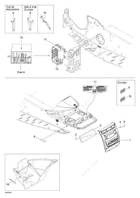 ski doo snowmobile parts diagram skidoo parts diagram 28 images ski doo 2007 mx z xrs