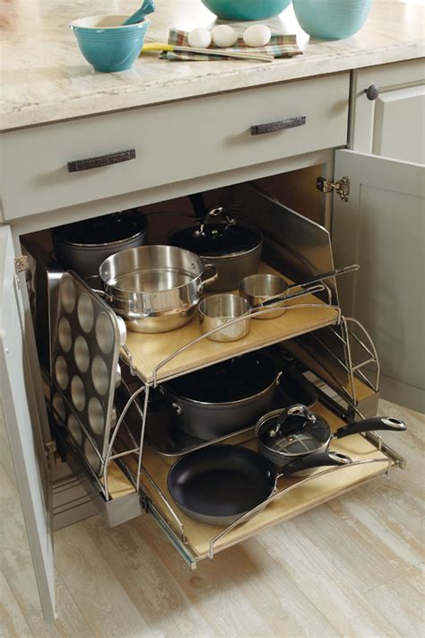 kitchen pull out drawers for pot storage front porch cozy base pots and pans pullout diamond cabinetry