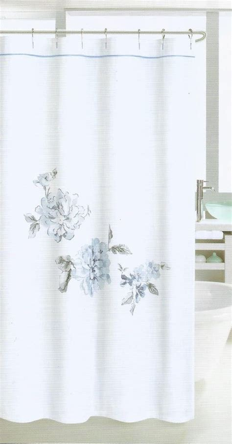 nicole miller drapes nicole miller embroidered large floral blue grey white