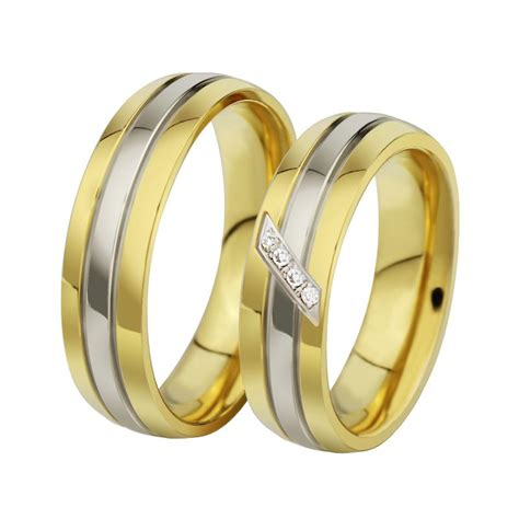 new fashion gold wedding rings with and without