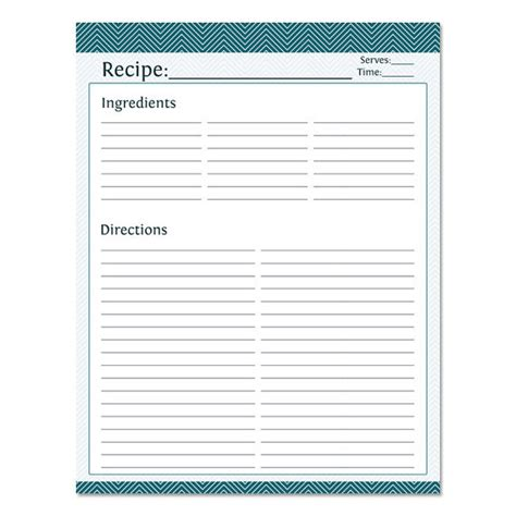 blank recipe template full page templates resume