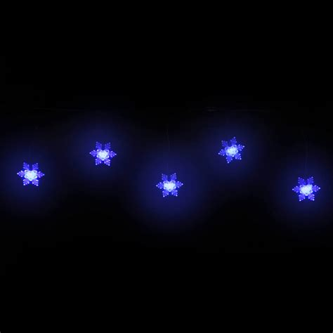 blue snowflake lights blue snowflake icicle 50 led large cap green wire