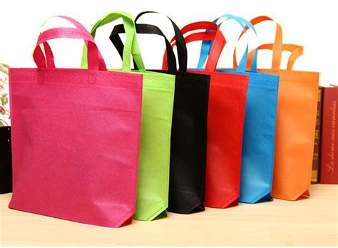 Tas Goodie Bag Souvenir Kantong Banner Big 1 size 36 45cm colorful non woven fabrics bag pack big
