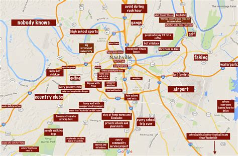map of nashville area an accurate map of the real nashville america s best city