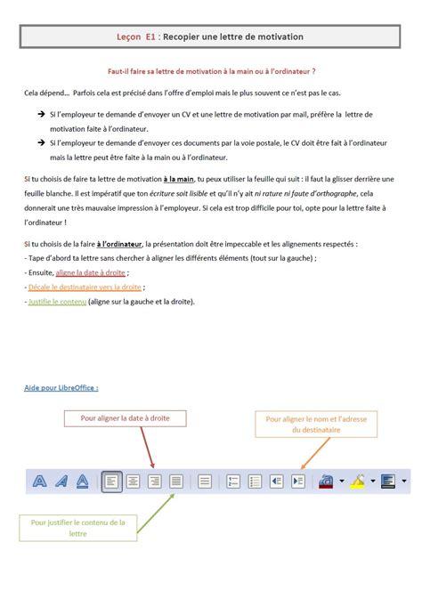 Exemple De Lettre Officielle 4eme exemple de lettre de motivation pour eleve de 4eme
