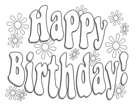 Birthday Cake Templates For Free Coloring The Birthday Happy Birthday Card Printable Coloring Pages