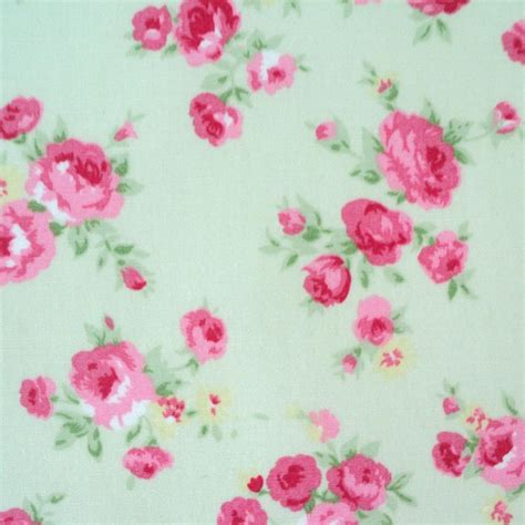 rosalind rose 100 cotton fabric small floral roses shabby vintage chic ebay
