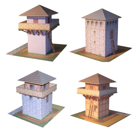 Papercraft Models Free - watchtower paper models