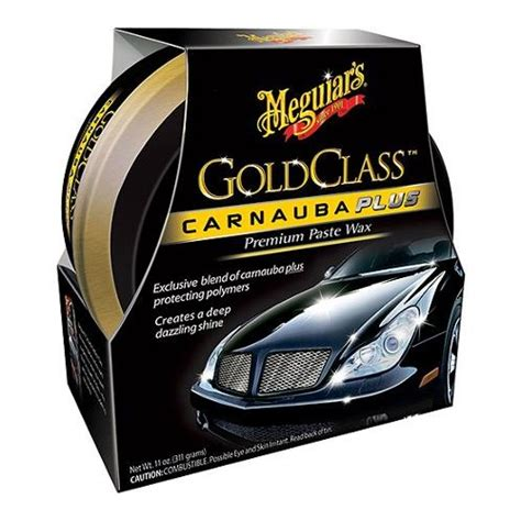 meguiar s gold class carnauba plus premium paste wax 11 oz