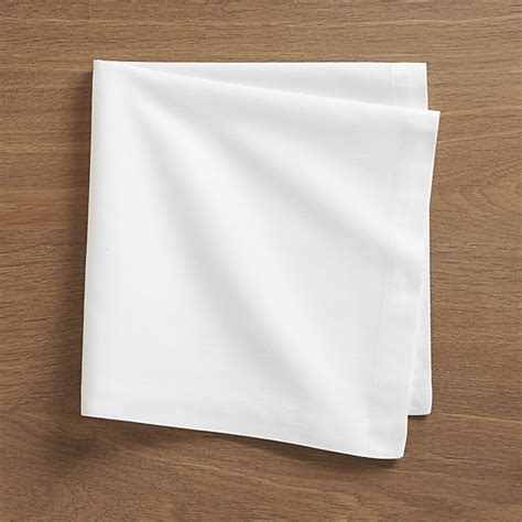 crate and barrel napkins set of 8 fete white cloth napkins crate and barrel