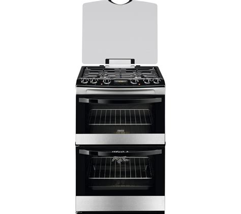 Oven Gas 60 X 40 buy zanussi zck68300x 60 cm dual fuel cooker stainless