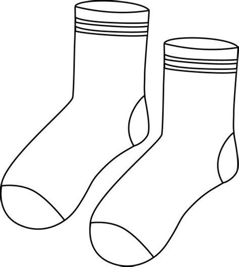 sock black and white pair of black and white socks เคร องแต งกาย