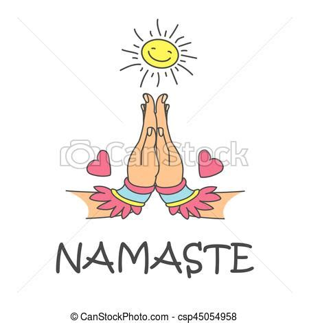 namaste clipart namaste femme mudra accueil caract 232 re indien mains