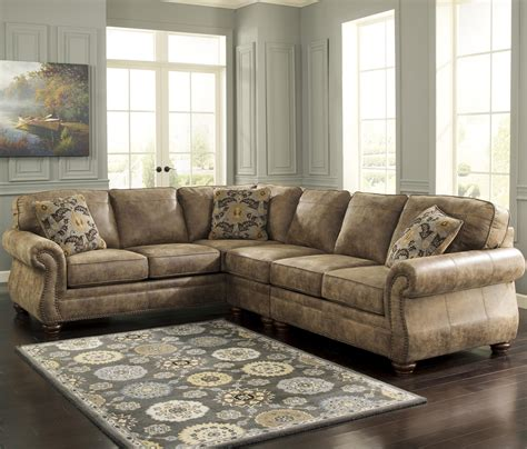 ashley sofa sectional ashley signature design larkinhurst earth roll arm