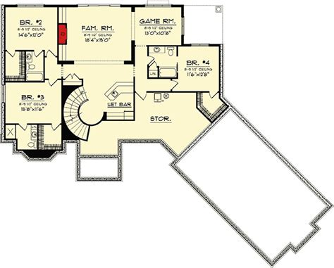 ranch home floor plans with walkout basement ranch home plan with walkout basement 89856ah