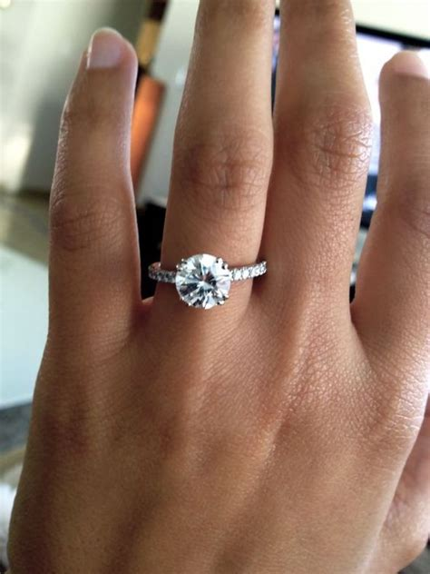 thin pave band cut engagement ring wedding