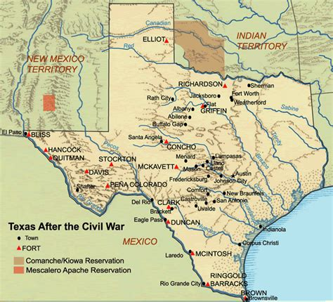texas forts map frontier forts