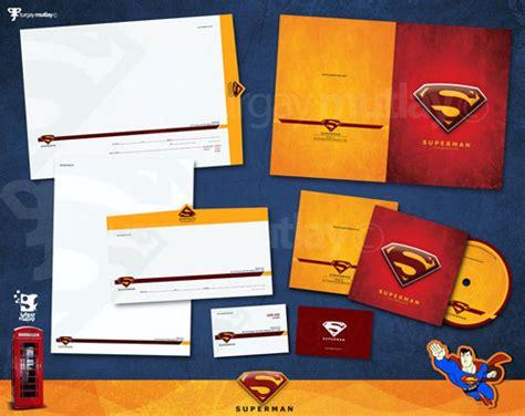 design inspiration identity superman corporate identity letterhead and logo design