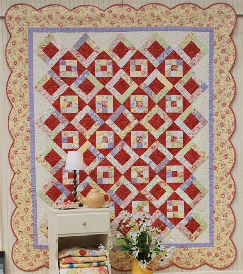 Scallop Quilt Pattern by How To Finish A Quilt With Scalloped Borders Quilting Digest