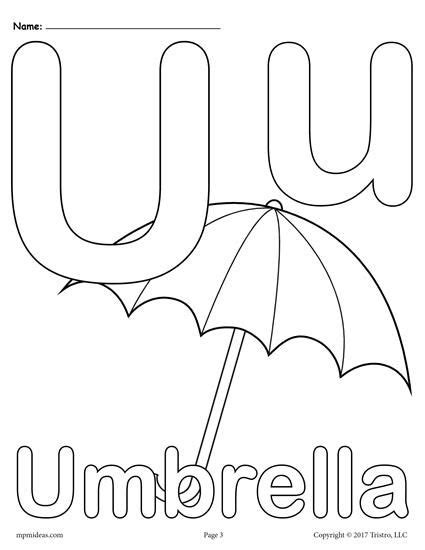 Letter U Coloring Page For Toddlers by Letter U Alphabet Coloring Pages 3 Free Printable