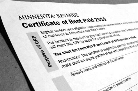Rent Credit Form Minnesota Minnesota Rent Credit Form 2010