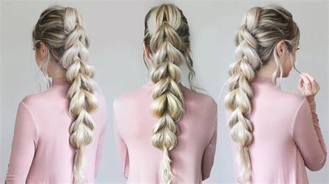 cute hairstyles pull through braid the pull through braid your new favorite way to style