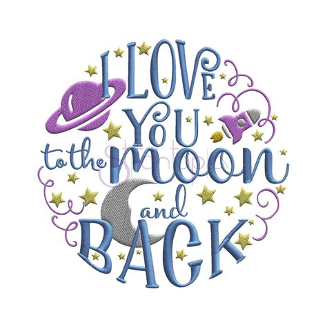 embroidery design love you to the moon and back i love you to the moon and back embroidery design