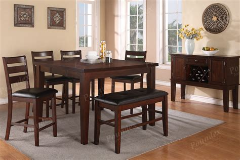 Counter High Dining Room Sets High Bench Counter Height Chairs Dining Room Furniture Showroom Categories Poundex