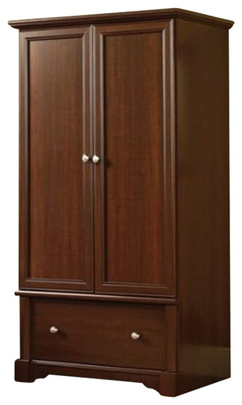 dressers chests and bedroom armoires sauder palladia wardrobe armoire in cherry
