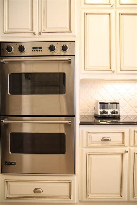 kitchen oven cabinets double ovens cabinet color for the home pinterest