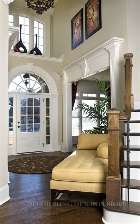 grand foyer high ceiling window treatments this foyer lends a