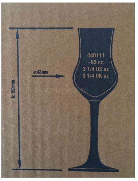 bicchieri per grappa 6 calici grappa professionali pasabahce