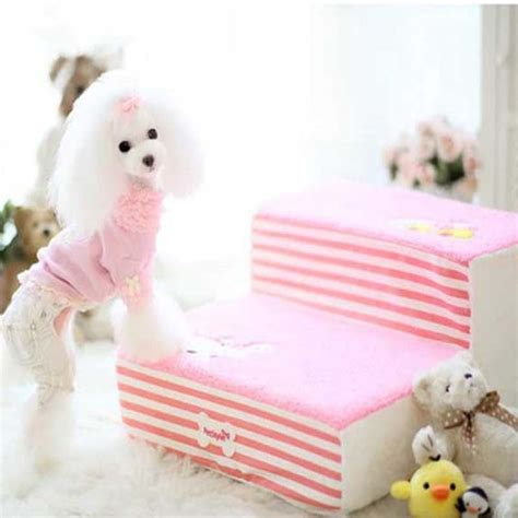 doggie steps for small dogs fleece pet cat bed stairs for small high