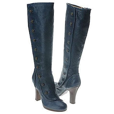 448 frye matilda 10 blue leather button boots