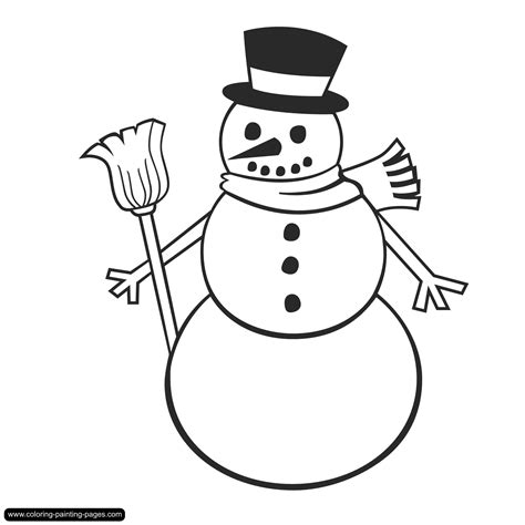 Coloring Pages Holidays Free Downloads Snowman Coloring Pages